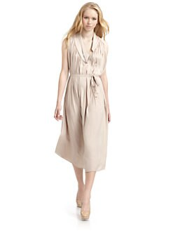 Richard Chai Love - Pleated Belted Dress