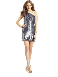 ABS - Sequin One Shoulder Dress