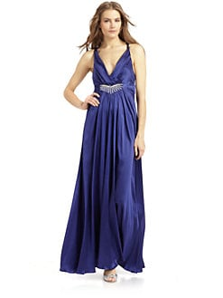 ABS - Crisscross Silk Gown