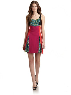 Versus by Versace - Print & Colorblock Dress