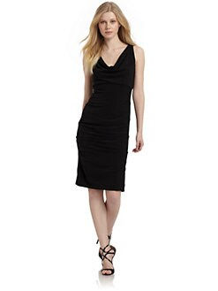 Nicole Miller - Draped Stretch Crepe Dress