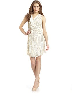 Sheri Bodell - Beaded Tank Dress/White