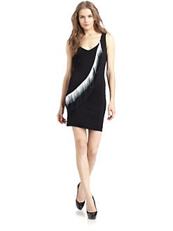 iron - Asymmetrical Fringe Tank Dress
