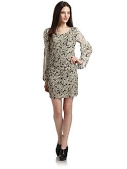 ADDISON - Flocked Floral Dress