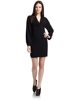 ADDISON - Gathered Shift Dress