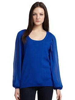 ADDISON - Semi-Sheer Sleeve Sweater