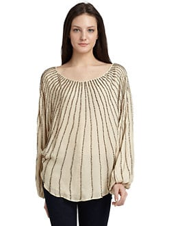 ADDISON - Embellished Dolman Top