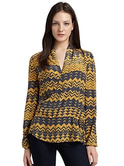 ADDISON - Silk Kerouac Print Top
