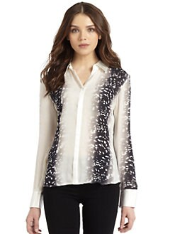 Madison Marcus - Silk Animal-Print Blouse