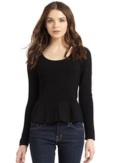Madison Marcus - Wool & Cashmere Peplum Sweater