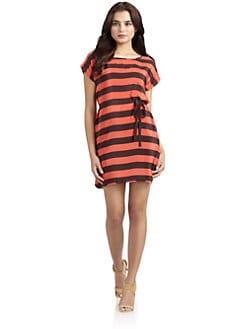 French Connection - Shyanne Summer Silk Striped Dress