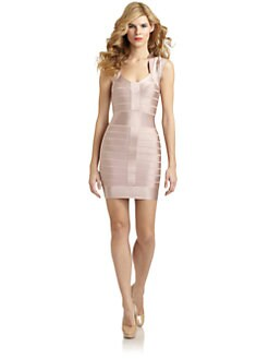 French Connection - T-Ribbon Cap Sleeve Bandage Dress