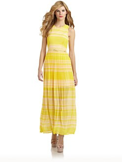 French Connection - London Rock Striped Maxi Dress