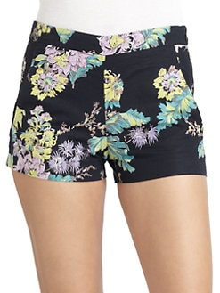 French Connection - Fast Gwendoline Linen & Cotton Floral Shorts