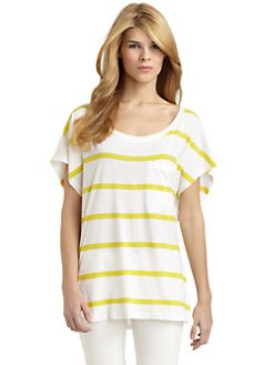 French Connection - Cuba Cotton Striped Dolman Top