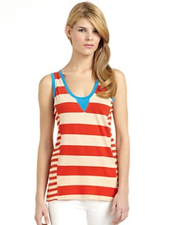 French Connection - Taboo Cotton Striped Tank Top