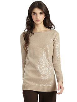 Alice + Olivia - Sequined Knit Top