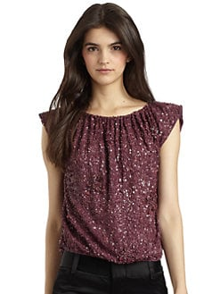 Alice + Olivia - Sicily Sequined Top