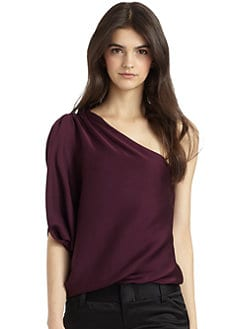 Alice + Olivia - Hannah One-Shoulder Top/Plum