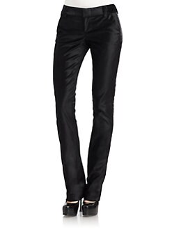 Alice + Olivia - Stacey Skinny Velvet Pants