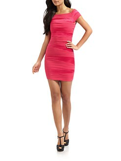 Alice + Olivia - Soleil Off-The-Shoulder Dress/Pink