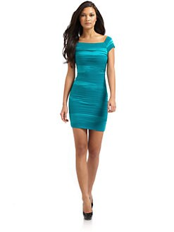 Alice + Olivia - Soleil Off-The-Shoulder Dress/Teal