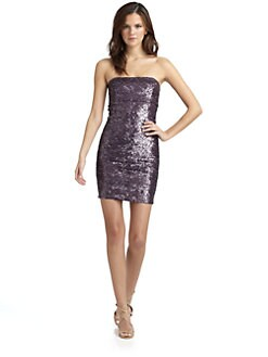 Alice + Olivia - Nicolette Sequined Cocktail Dress