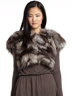 Alice + Olivia - Angelica Fox Fur Shawl