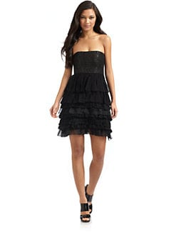 Alice + Olivia - Beckinsale Beaded-Bodice Dress