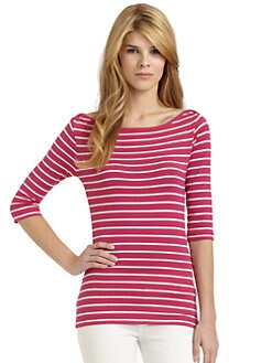 French Connection - Tim Tim Striped Boatneck Top