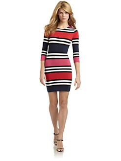 French Connection - Multi Jag Stripe Dress