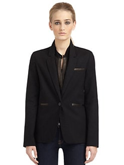 Elizabeth and James - Sienna Leather Patch Blazer