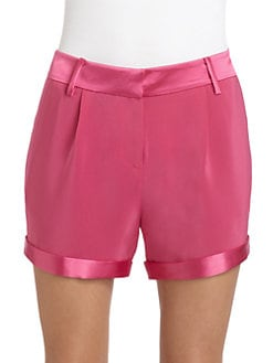 Elizabeth and James - Nakisha Satin-Trimmed Cuff Shorts