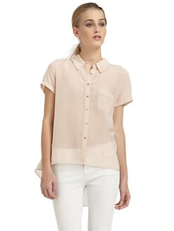 Elizabeth and James - Rosie Silk/Cotton Button-Front Shirt