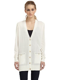 Elizabeth and James - Mesh Back Boyfriend Cardigan
