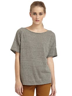 Elizabeth and James - Kiara Short-Sleeve Open-Back Tee