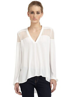 Elizabeth and James - Karin Sheer Panel Blouse