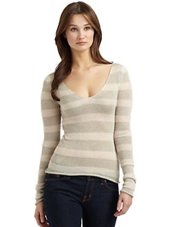 Sjobeck - Loose Weave Striped Sweater