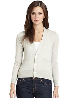 Sjobeck - Boyfriend Cardigan/Natural & Grey