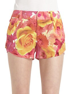 Alice + Olivia - Butterfly Floral-Print Shorts
