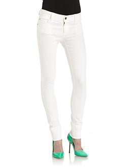 Alice + Olivia - Skinny Jeans/White