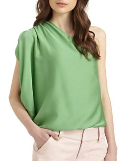Alice + Olivia - Hannah One-Shoulder Top