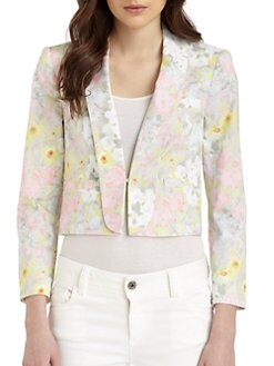 Alice + Olivia - Joella Floral-Print Tuxedo Jacket