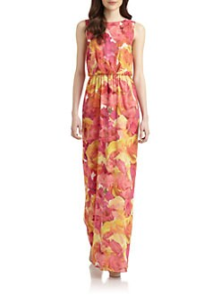 Alice + Olivia - Becky Floral-Print Maxi Dress