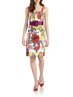 Alice + Olivia - Natalee Floral-Print Sheath Dress