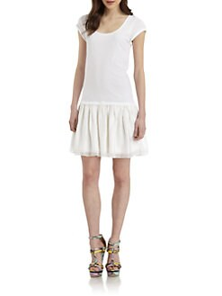 Alice + Olivia - Cooper Ruffle Drop-Waist  Dress