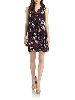 Alice + Olivia - Sullivan Floral-Print Mock Wrap Dress