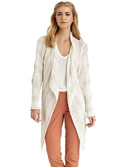 Rachel Zoe - Chloe Draped Front Striped Cardigan