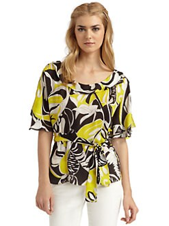 Rachel Zoe - Sierra Floral Silk Blouse