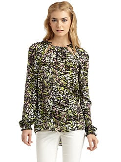 Rachel Zoe - Lucy Cutout Silk Top